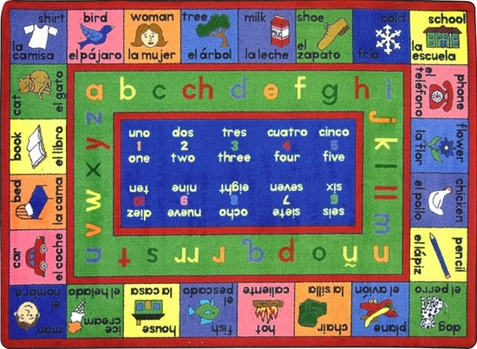Lengualink Children's Bilingual Carpet 7'8 x 10'9
