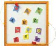Letter Match Wall Activity Toy