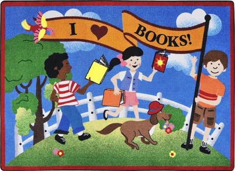 Library Day Learning Rug 7'8 x 10'9