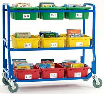 Copernicus Library on Wheels Cart w/ Standard Tub Set