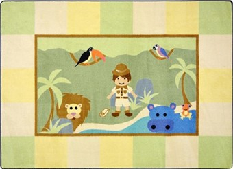 Lil' Explorer Childrens Area Rug 3'10 x 5'4