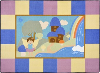 Lil' Fairy Children's Area Rug 7'8 x 10'9