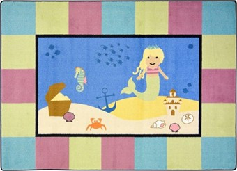 Lil' Mermaid Childrens Rug 3'10 x 5'4