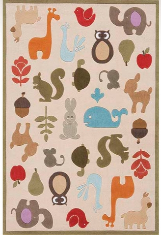 Momeni Lil Mo Whimsy Critters Area Rug