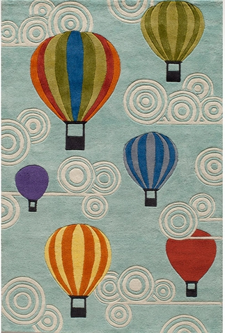 Momeni Lil Mo Whimsy Hot Air Balloons Area Rug