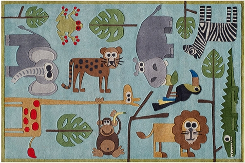 Momeni Lil Mo Whimsy Safari Area Rug - Out of Stock