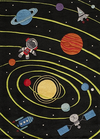 Lil Mo Whimsy Solar System Area Rug