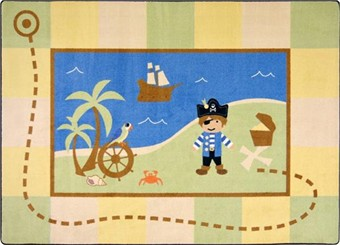 Lil' Pirate Childrens Rug 3'10 x 5'4