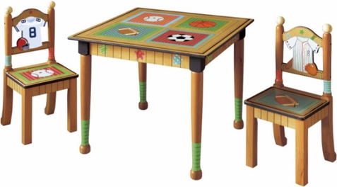 Lil Sports Fan Table with 2 Chairs