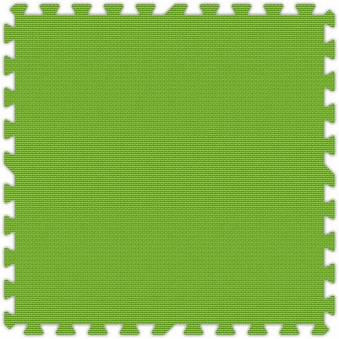 Lime Green Foam Premium Interlocking Floor Tiles - Free Shipping