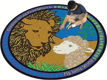 Lion & Lamb Children's Carpet 7'7 Round