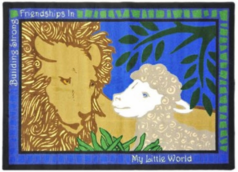 Lion & Lamb Children's Carpet 7'8 x 10'9 Rectangle
