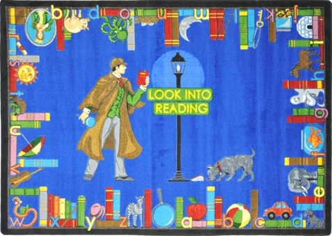 Look Into Reading Library Rug 7'8 x 10'9 Rectangle