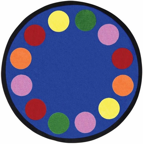 Lots of Dots Kids Area Rug 7'7 Round