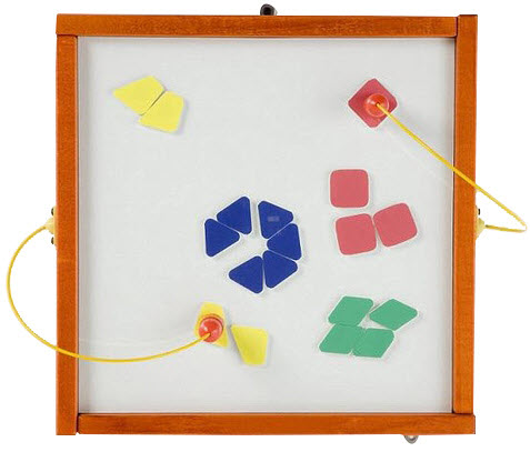 Magnetic Mix Up Shapes Wall Activity Toy
