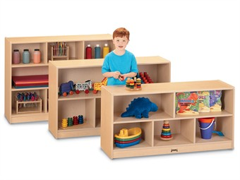 Jonti-Craft Maplewave Single Storage Classroom Cabinet by