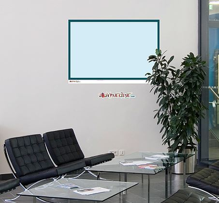 Fathead Medium Dry Erase Board Blue Border Wall Decal