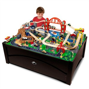KidKraft Metropolis Train Table & Train Set