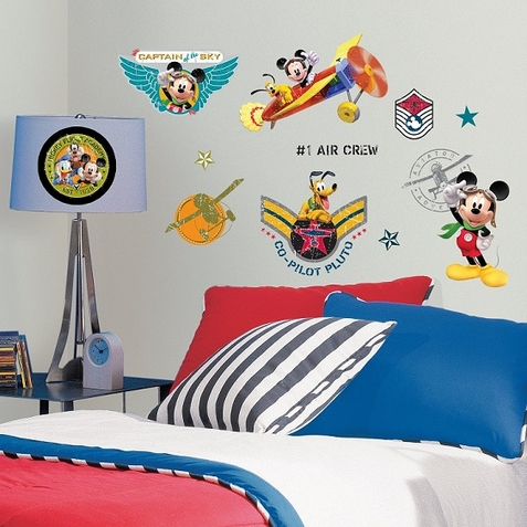 Mickey & Friends Clubhouse Pilot Peel & Stick Wall Decals