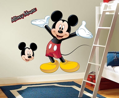 Mickey Mouse Peel & Stick Giant Wall Decal
