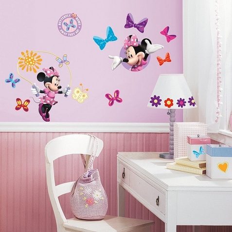 Minnie Bow-Tique Peel & Stick Wall Decals