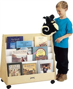 Mobile 2 Sided Pick a Book Stand