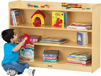 Jonti-Craft Mobile Classroom Bookcase With Lip