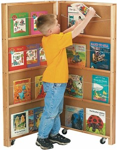 Jonti-Craft Mobile Library Bookcase