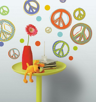Mod Peace Signs Peel & Stick Wall Decals