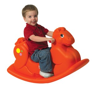 Molded Orange Rocking Horse