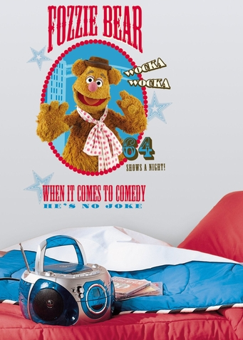 Muppets Fozzie Peel & Stick Giant Wall Decal
