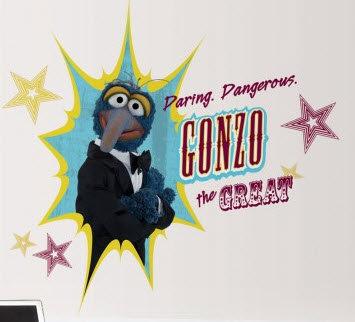 Muppets Gonzo Peel & Stick Giant Wall Decal
