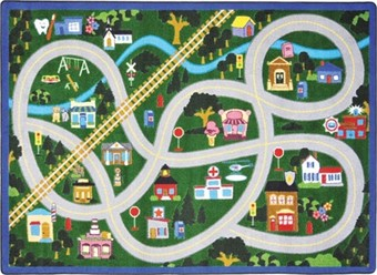 My Community Helper Playroom Rug 5'4 x 7'8