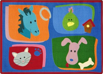 My Favorite Animals Area Rug 7'8 x 10'9 Rectangle