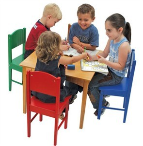 KidKraft Nantucket Honey Square Table & 4 Chair Set