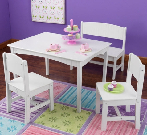 KidKraft Nantucket Table with Bench and 2 Chairs - Out of Stock