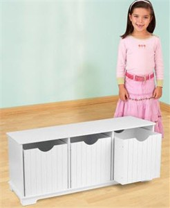 KidKraft Nantucket White Storage Bench - Out of Stock