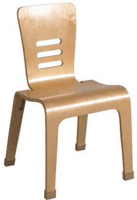 ECR4Kids Natural Bentwood Chair - 2 Pack