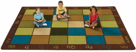 Nature's Colors Classroom Seating Rug 7'6 x 12