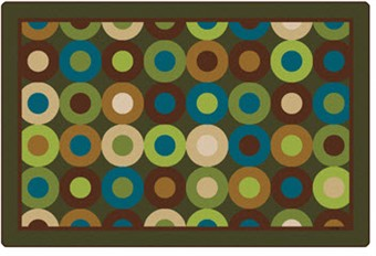 Natures Colors Calming Circles Classroom Rug 6' x 9'