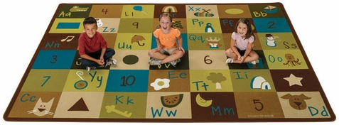 Natures Colors Learning Blocks Factory Second Classroom Rug - Free Shipping