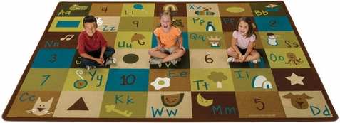 Natures Colors Learning Blocks Rectangle Classroom Rug 8'4 x 11'8