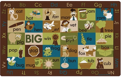 Natures Colors Rhymetime Classroom Rug Factory Second 7'6 x 12'