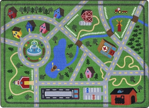 Neighborhood Explorer Kids Area Rug 5'4 x 7'8