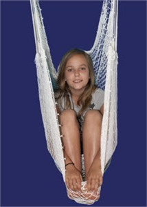 Net Swing with Doorway Support Bar & Rope Chain Extensions - Out of Stock