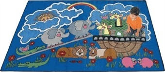 Noah's Ark Rectangle Rug 7'8 x 10'9 Rectangle