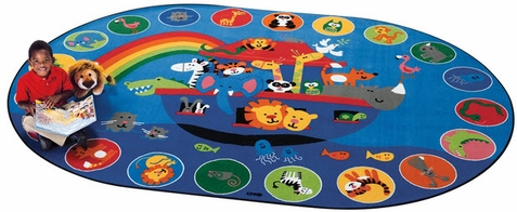 Noah's Voyage Circletime Oval Rug Factory Second 8'3 x 11'8