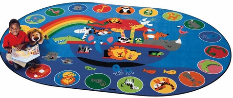 Noah's Voyage Circletime Rug 6'9 x 9'5 Oval - Out of Stock