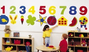 Number and Shapes Wall Decal Set