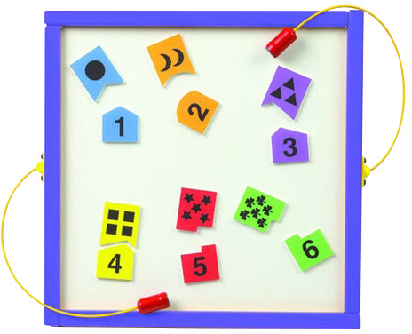 Number Match Wall Activity Toy